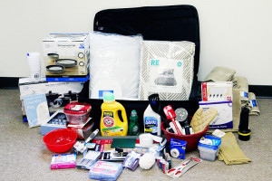 An example of the suitcases JLCR makes available to local teens aging out of foster care.